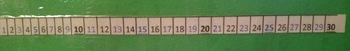 Paper Clip Number Line -set of 30