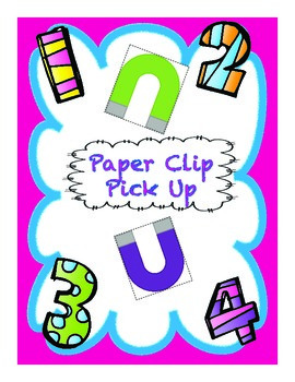 Paper Clip Pick Up Game