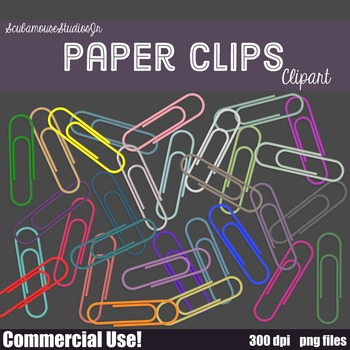 Paper Clips Clipart