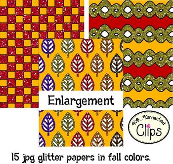 Paper Collection - Fall Glitter Papers