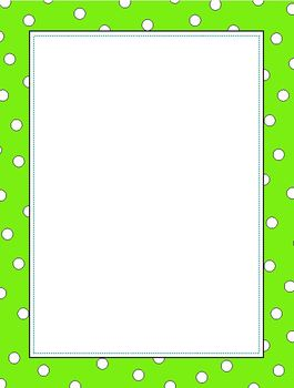 Paper : Colorful Dot Border in 8 Colors PDF