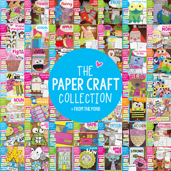 Craft Bundle - Craftivities and Paper Craft Bundle - Cut and Paste