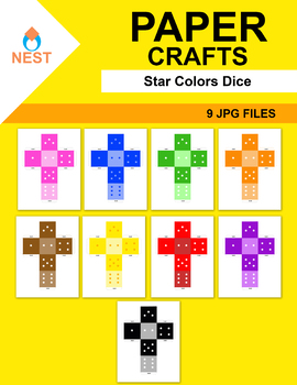 Colors with stars Dice Paper Crafts