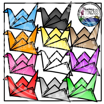Paper Cranes Clipart