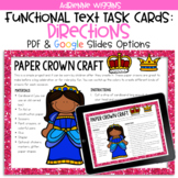 Paper Crown Functional Text