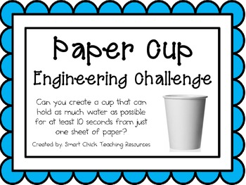 Paper Cup: Engineering Challenge Project ~ Great STEM Activity!