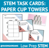 Paper Cup Towers STEM Challenge Task Cards