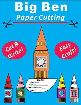 Paper Cutting Craft: Big Ben: Elizabeth Tower England