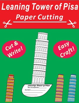 Paper Cutting Craft: Leaning Tower of Pisa Italy