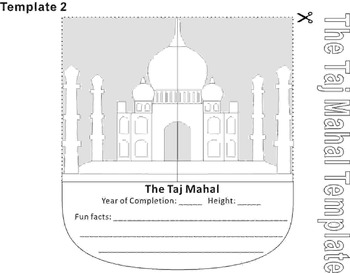 Paper Cutting Craft: The Taj Mahal