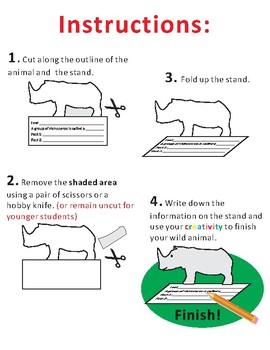 Paper Cutting Craft: Wild Animals