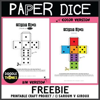 Paper Dice Printable Freebie