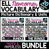 ESL Newcomer Activities: Vocabulary Distance Learning Pape