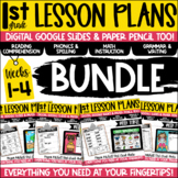 First Grade Lesson Plans Digital & Paper Pencil Weeks 1-4