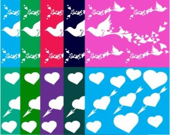 Paper Digital Love Clip Art pigeon eiffel tower Background tree invitation -040-