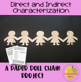 Paper Doll Chain Character Analysis Project - Adaptable to