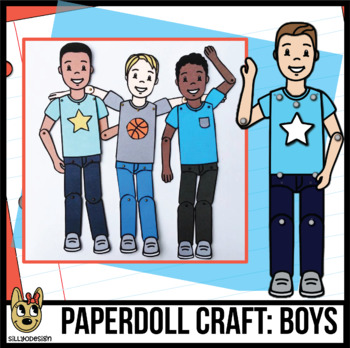 Paper Doll Craftivity: Make a Movable Boy Figure