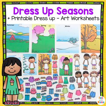 Paper Doll Dress Up Seasons