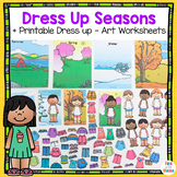 Dress Up Dolls   Dress for the weather kids Seasons   Weather unit All About Me
