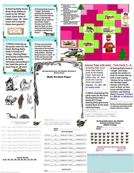 Winter 4th Grade Multiplication Division Time Word Problems SPED/Autism/ESL