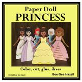 PAPER DOLL PRINCESS  (Color Cut Paste)