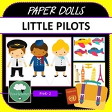Paper Dolls AIRPORT PILOTS Imaginative Dramatic Play PreK-2 Preschool Kindy