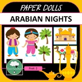 Paper Dolls ARABIAN NIGHTS Imaginative Dramatic Play PreK-2 Preschool Kindy