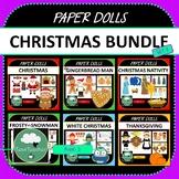 Paper Dolls BUNDLE Christmas Thanksgiving Imaginative Dram