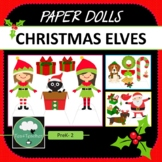 Paper Dolls CHRISTMAS ELVES Imaginative Dramatic Play