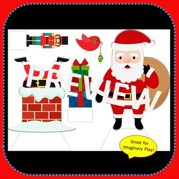 Paper Dolls CHRISTMAS Imaginative Dramatic Play Game