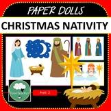 Paper Dolls CHRISTMAS NATIVITY Imaginative Dramatic Play