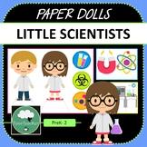 Paper Dolls CRAZY SCIENTISTS Imaginative Dramatic Play PreK-2 Preschool Kindy