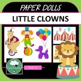 Paper Dolls CIRCUS CLOWNS Imaginative Dramatic Play PreK-2 Preschool Kindy