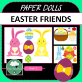 Paper Dolls EASTER BUNNY and Friends Imaginative Dramatic Play