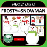 Paper Dolls FROSTY THE SNOWMAN Imaginative Dramatic Play