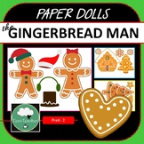 Paper Dolls GINGERBREAD MAN Imaginative Dramatic Play Game
