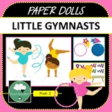 Paper Dolls GYMNASTICS GIRLS Imaginative Dramatic Play PreK-2 Preschool Kindy