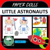 Paper Dolls LITTLE ASTRONAUTS Imaginative Dramatic Play