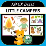 Paper Dolls LITTLE CAMPERS Imaginative Dramatic Play Camping