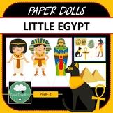 Paper Dolls LITTLE EGYPT Imaginative Dramatic Play PreK-2 Preschool Kindy