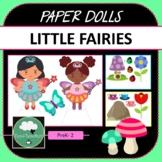 Paper Dolls LITTLE FAIRIES Imaginative Dramatic Play