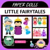 Paper Dolls LITTLE FAIRYTALES Imaginative Dramatic Play