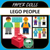 Paper Dolls LITTLE LEGO PEOPLE Imaginative Dramatic Play Camping