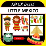 Paper Dolls LITTLE MEXICO Imaginative Dramatic Play