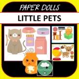 Paper Dolls LITTLE PETS Imaginative Dramatic Play