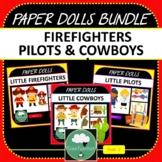 Paper Dolls PILOTS COWBOYS FIREFIGHTERS Imaginative Dramat