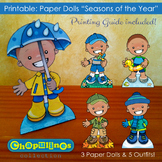 Paper Dolls - Printable - Seasons of the Year - Boys - Ful