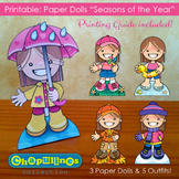 Paper Dolls - Printable - Seasons of the Year - Girls - Fu