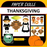 Paper Dolls THANKSGIVING Imaginative Dramatic Play Game