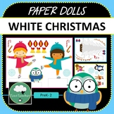 Paper Dolls WHITE CHRISTMAS Imaginative Dramatic Play Game